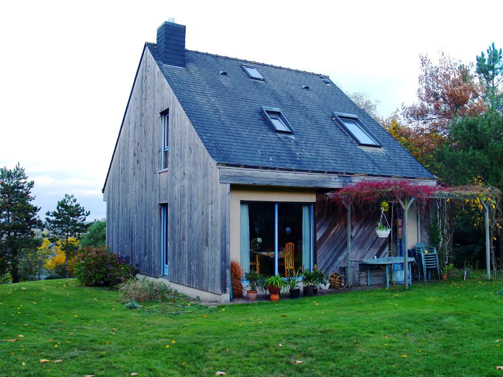 Extension d 39 une maison bois atelier architecture verte for Atelier maison verte