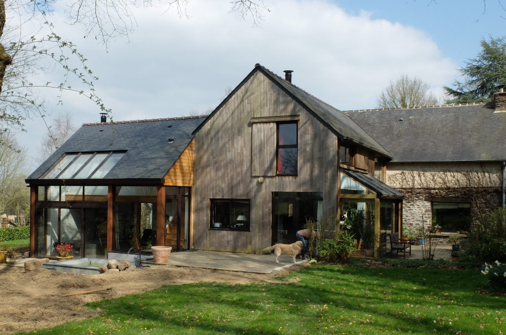 Albums atelier architecture verte for Agrandissement longere