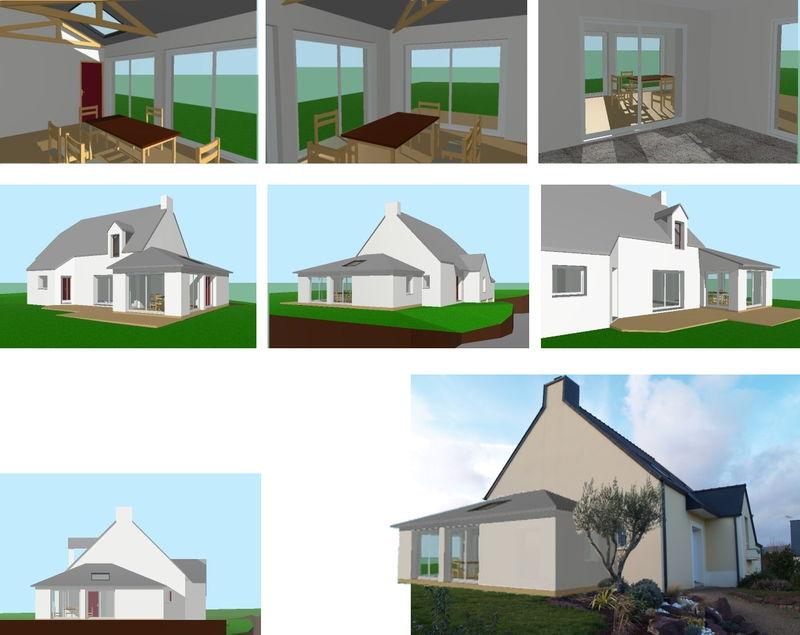 extension d 39 une habitation en ossature bois avec enduit atelier architecture verte. Black Bedroom Furniture Sets. Home Design Ideas