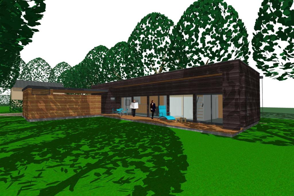 La maison sous les ch nes sort de terre atelier for Atelier maison verte