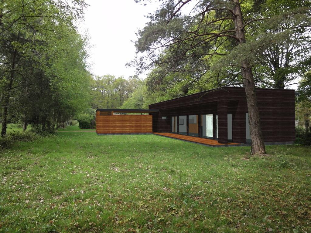 La maison sous les ch nes sort de terre atelier for Maison container sous terre