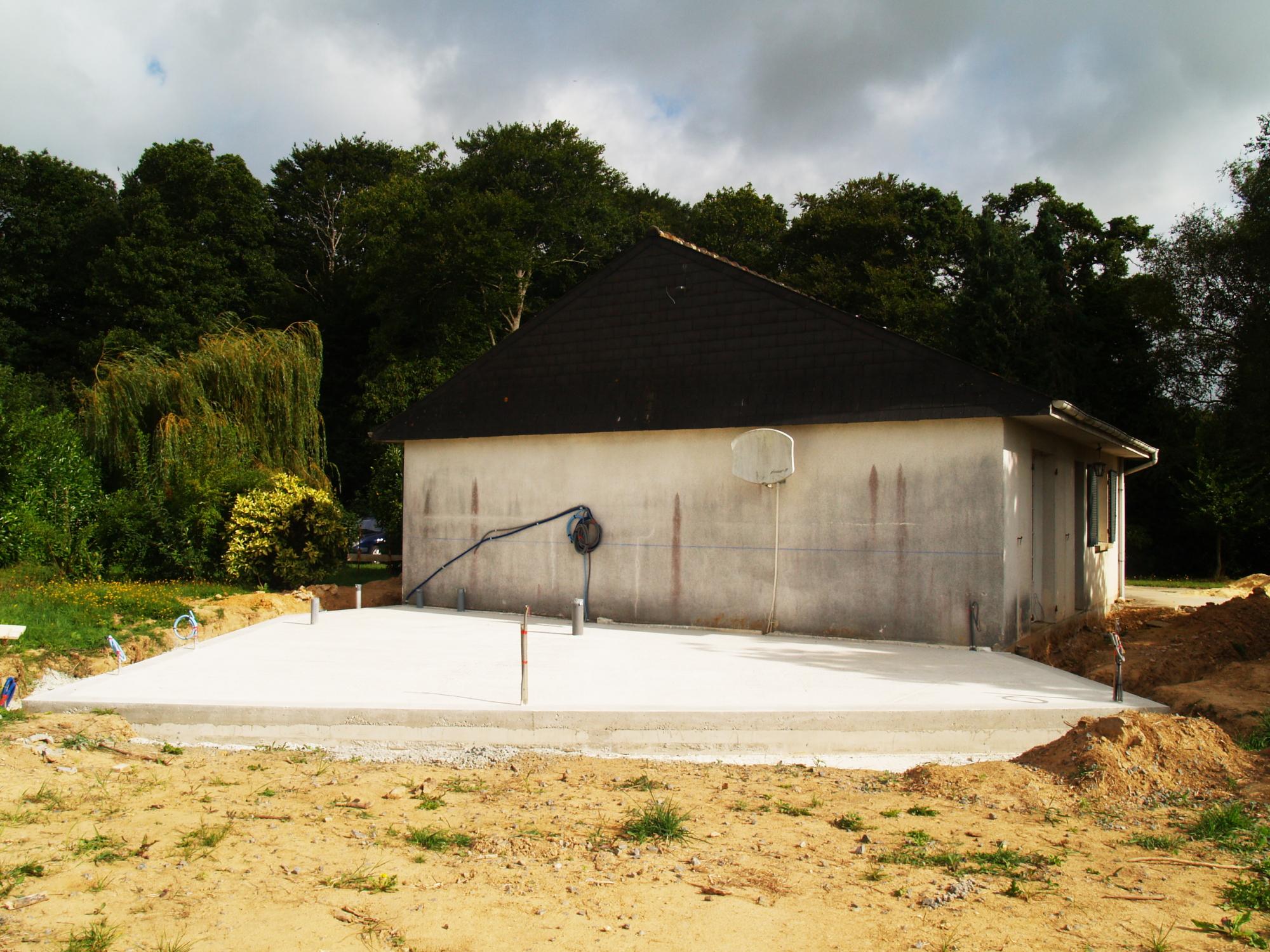 Extension et renovation thermique - chantier -