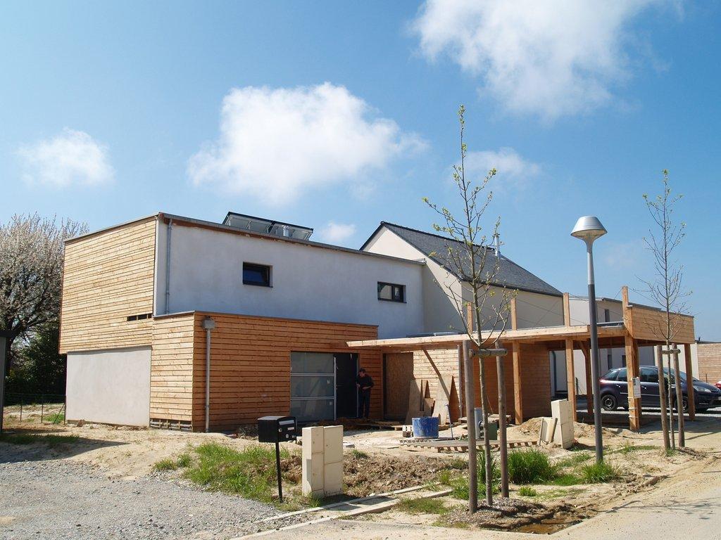 maison passive à Romillé - nord