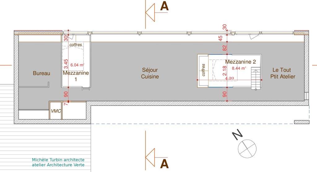 La Maison sous les chênes - Plan des mezzanines