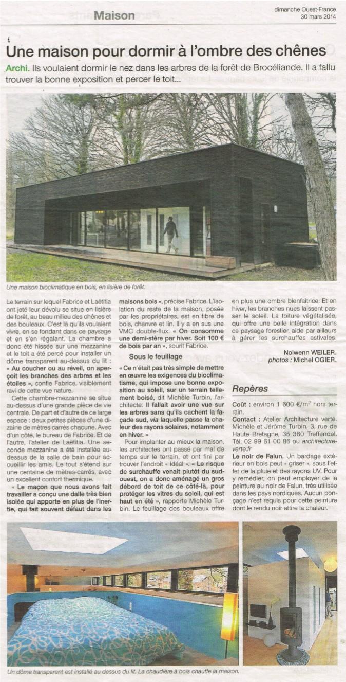 OF 30-03-2014 - Maison sous les chênes