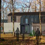 Une maison dans un bois